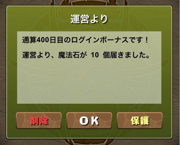 400日突破